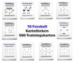 FUSSBALL SET - 10 Kartotheken über 500 Trainingskarten